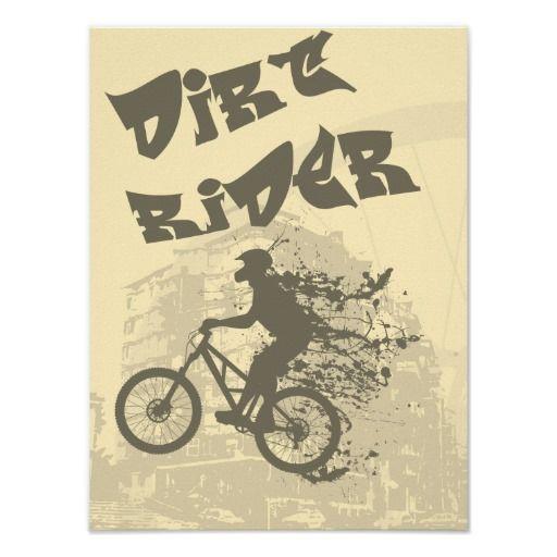 Dirt rider print