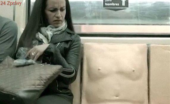 """VIDEO: """"Úchylná"""" sedačka upozorňuje na sexuální obtěžování v metru"""