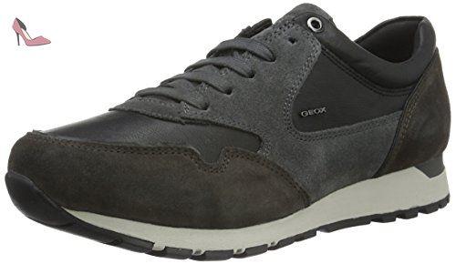 Geox U Emildon B, Baskets Basses Homme, Grau (Black/DK GREYC0005), 45 EU - Chaussures geox (*Partner-Link)