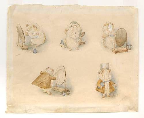 The Amiable Guinea-pig by Beatrix Potter: Amiabl Guinea Pigs, Artworks Sales, Captiv Watercolor, Potter Artworks, D Illustrations, Children Books, Potter Watercolor, Beatrix Potter Illustrations, Guinea Pigs Poems