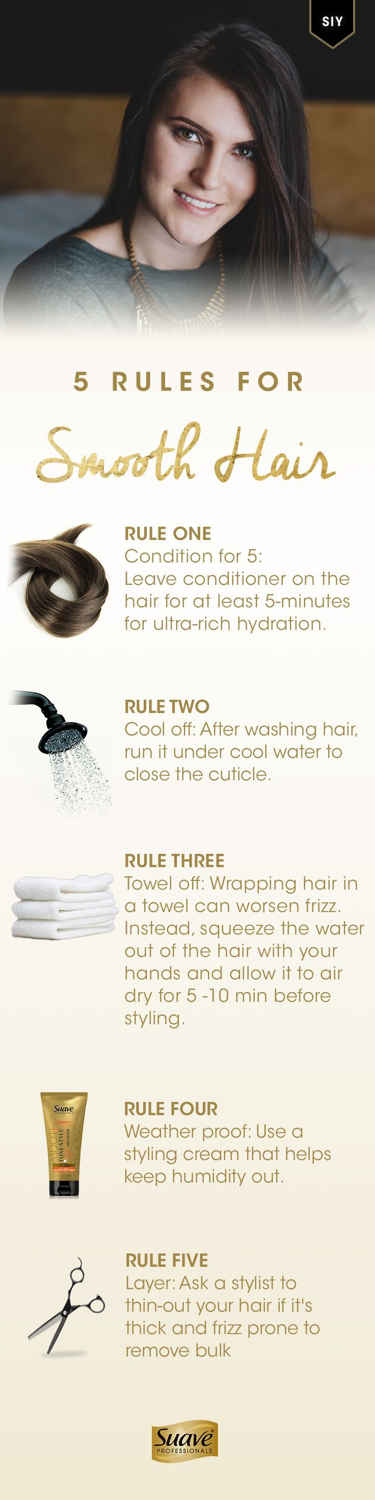 5 Rules for Smooth Hair