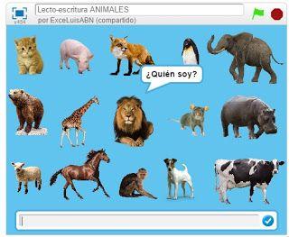 Lecto escritura Animales