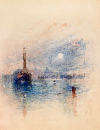 'Margate' by Turner, c1840  This is one of 33 watercolours, paintings and prints that will go on display in the exhibition Turner: Travels, light and landscape at the Lady Lever Art Gallery from 14 February to 1 June 2014.
