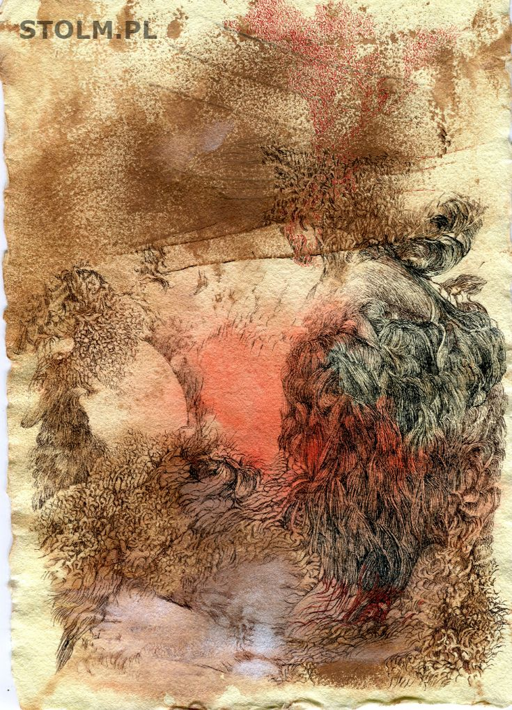 Way ink on paper Stanisława Olszańska Marszałek art abstraction