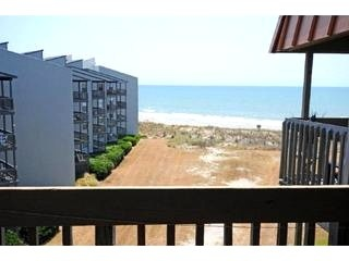 Topsail Dunes View   View from Balcony - OCEAN FRONT North Topsail Beach Island, NC - 1 BR - North Topsail Beach - rentals