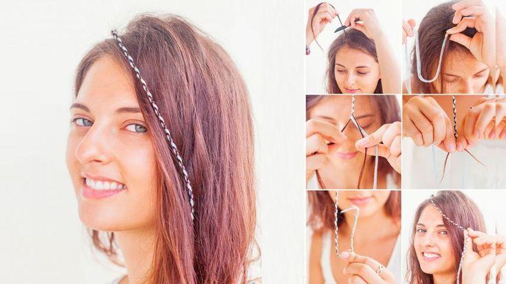 Cómo hacer trenzas de hilo para el pelo