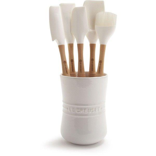 Le Creuset® White 6-Piece Revolution® Tools Set found on Polyvore