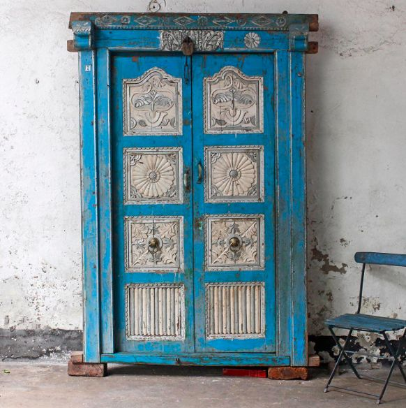 Vibrant Vintage Door #vintage #furniture #door