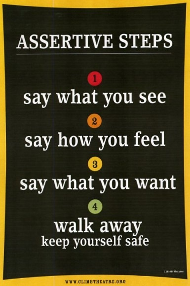 How to be assertive...love this for my students..it would really help them with conflict resolution