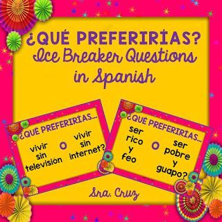 First Days of Spanish Class Part 1:  Building Relationships