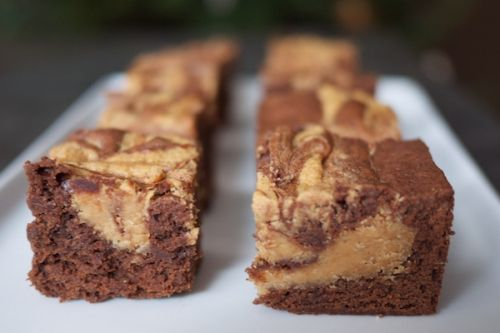 Clean peanut butter brownies with whey protein powder   40g chocolate protein powder   1 tbsp cocoa powder  1 egg   1 banana + 1/2 sweet potato (feel free to sub with apple sauce, pumpkin purée!)  1/2 C Greek yogourt   1/2 C all natural PB   Blend together, bake at 325 for 20-22 minutes foor ooey gooey goodness   Nutrition profile (based on 12 servings): 105 calories, 8g protein and 6g of carbs