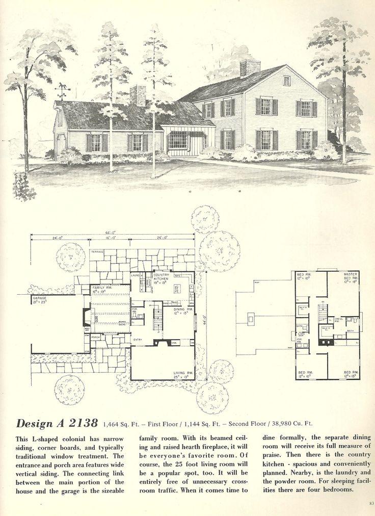 41 best vintage home plans images on Pinterest | Floor plans ...