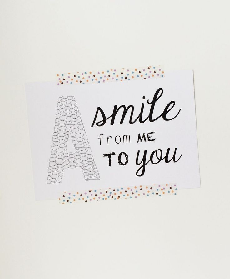 [ A smile from me to you ] postcards byhornung