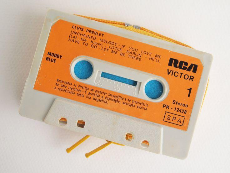 Zippered Cassette Tape Wallet - Elvis Presley by thepickpocketstore on Etsy