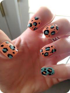 Cheetah Print Nails! ChG Peachy Keen & ChG For Audrey
