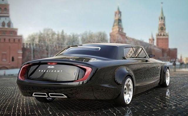 ESPECTACULAR!!! Marussia Zil President, Putín espera por su nuevo transporte.
