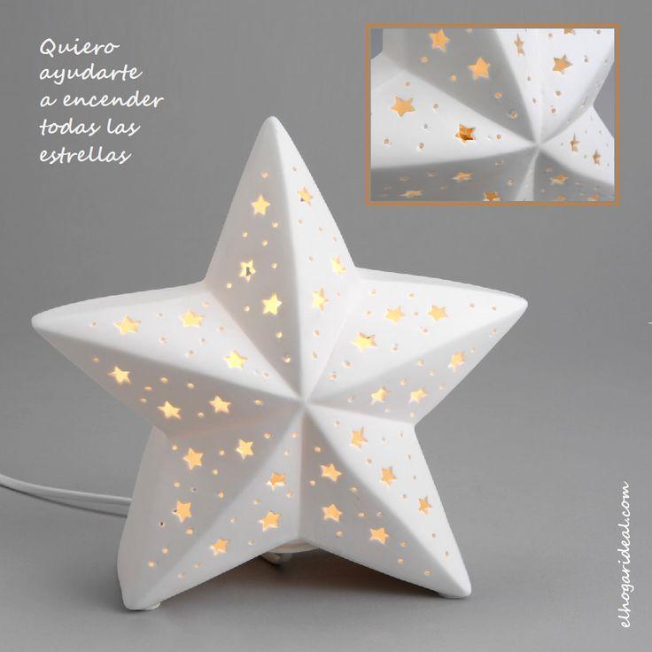La evocación navideña me ha puesto en el camino de esta original lámpara de cerámica en forma de estrella. http://elhogarideal.com/es/iluminacion/465-lampara-estrella-.html#.VlSrHvkve1s