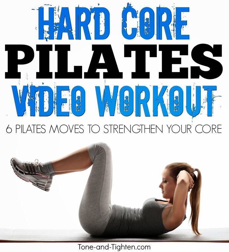 Hard Core Pilates video workout! The best Pilates moves to shred your core combined into one amazing #workout from Tone-and-Tighten.com