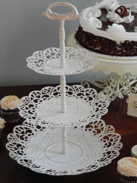 Shabby Chic 3 Tier Server Birthday Party Ideas