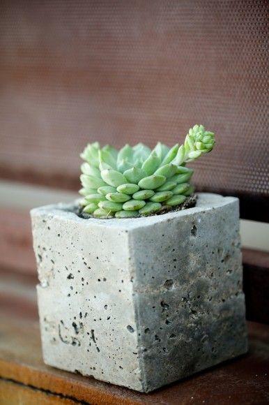 milk carton cement planter DIY