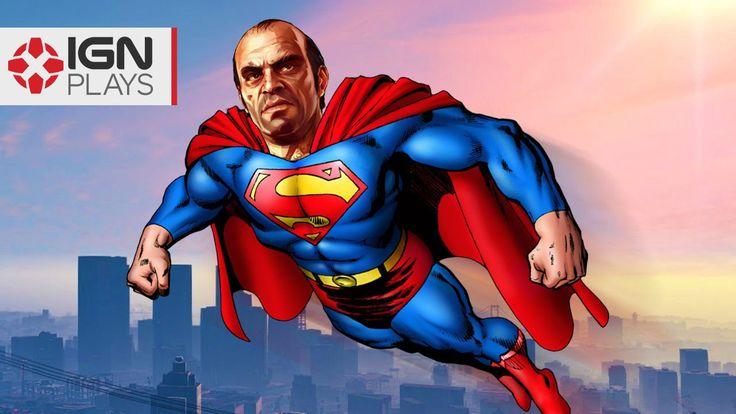 Superman Flight Mod in GTA 5 - IGN Plays