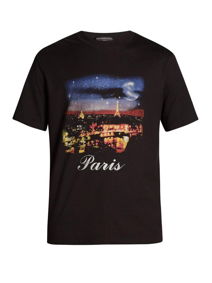 Paris-print T-shirt   Balenciaga   MATCHESFASHION.COM