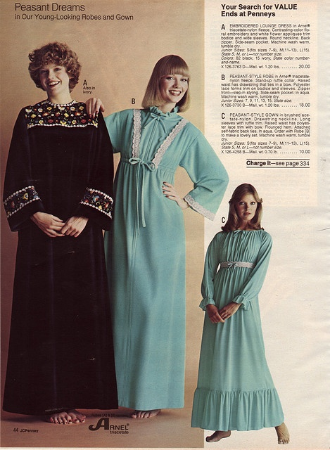 """These robes are only """"young-looking"""" if you're over the age of 90."""