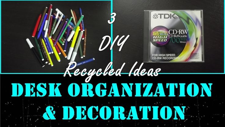 3 DIY ♻️ Recycled Ideas for Desk Organization and Decoration♻️