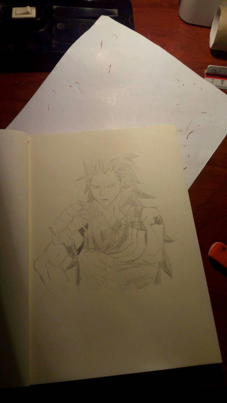 Gazille from fairy tail drawing