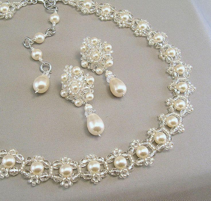 Kulisse-Halskette Hochzeit Schmuck Hochzeit von BridalDiamantes