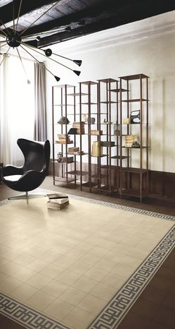 Bisazza Tabacco, Kelly Mandorla & Tan cement tiles