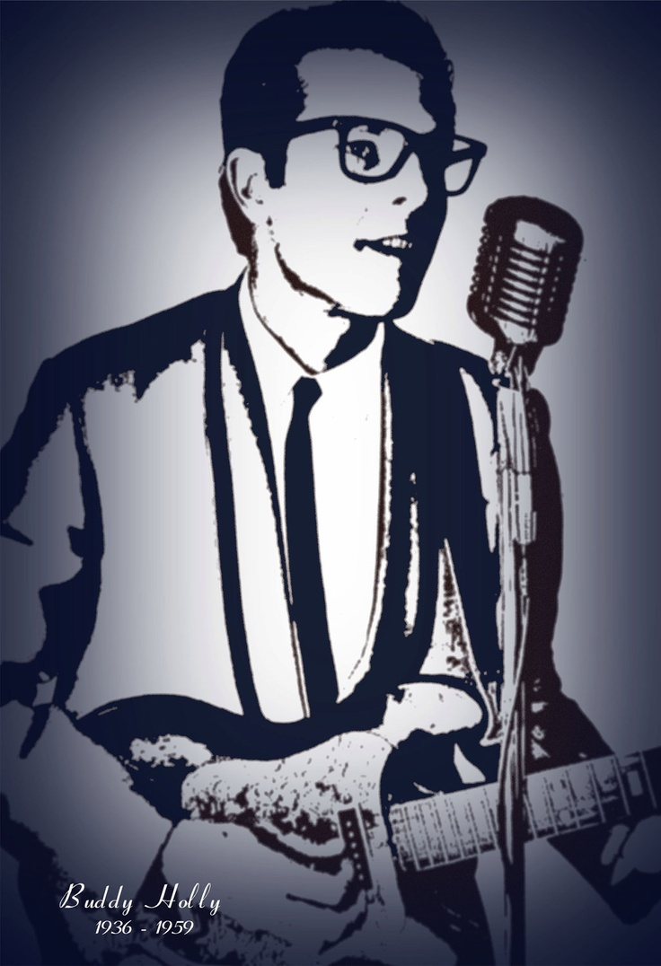 BUDDY HOLLY,  Original artwork, Rock legend, Oldies, Classic Artist.