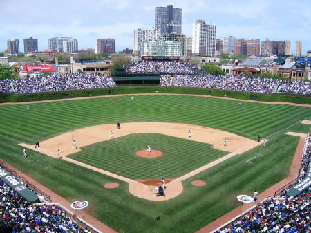 the friendly confines of Wrigley Field