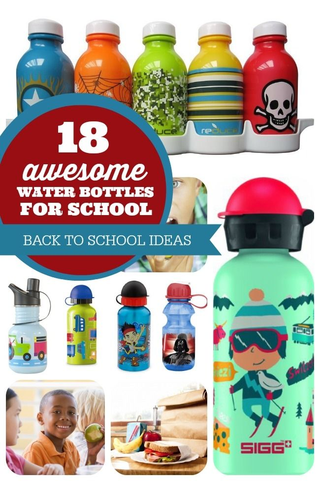 Cool Back to School Water Bottles