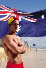 """Australia Day - A day to head to the beach and say """"Gday Mate!"""" to one of our Aussie lifesavers."""
