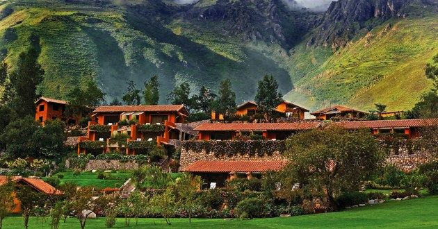 This picture is almost unreal, painted. Hotel Rio Sagrado, Urubamba, Peru #luxurylink