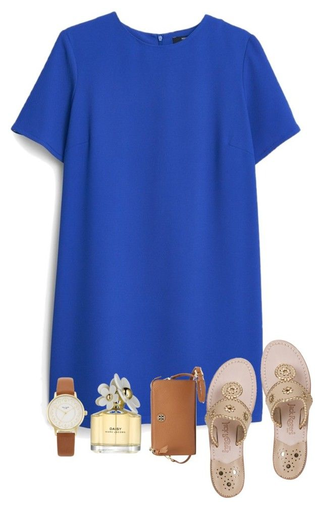 I get to go to the football game on Thursday!! by kadynpleasants on Polyvore featuring MANGO, Jack Rogers, Tory Burch, Kate Spade and Marc Jacobs