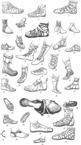 Греческая обувь в картинках