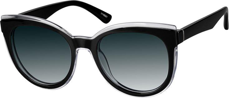 Zenni Womens Cat-Eye Rx Sunglasses Black Tortoiseshell TR