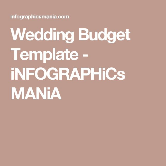 25+ Best Wedding Budget Templates Ideas On Pinterest | Wedding
