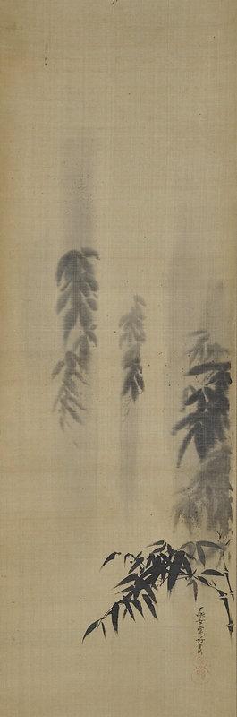 Summer Rain & Bamboo by female artist Hiroyuki Joshi (1807-1883)
