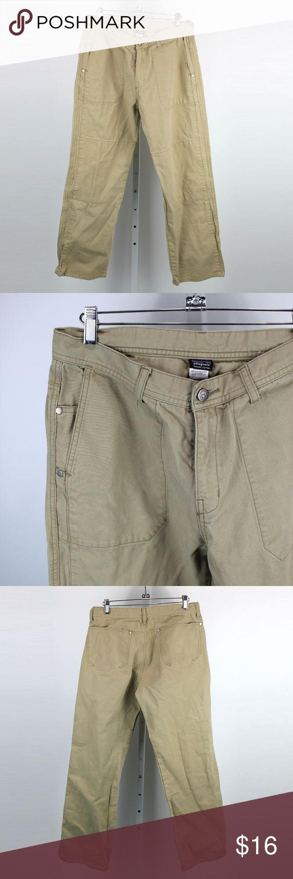 """Patagonia Mens 100% Organic Cotton Work Pants - 32 Mens work pants from Patagonia, and made with 100% organic cotton.  They are size 32 with a 29"""" inseam.  They have front and rear drop in pockets, with knife clip gussets.  They have been worn, and show some wear on the hems, but are in overall good condition. Patagonia Pants"""