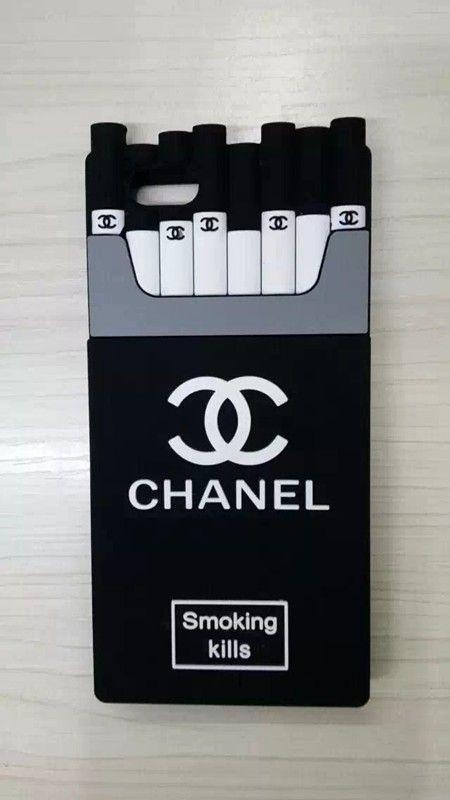 coque iPhone 6/6s /iphone 6 Plus/6s Plus 5/5s Housse Chanel Cigarette Style Original Silicone