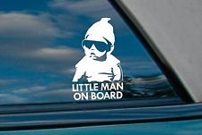2x little man on board stickers - carlos hangover baby car decal