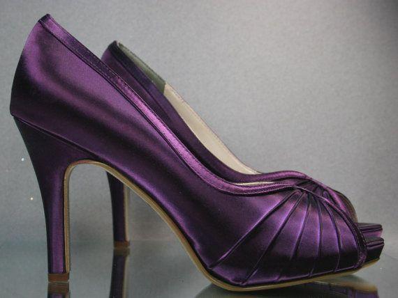 sale wedding shoes plum peep toe wedding shoes choose your own color
