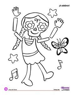 39 best Day of the Dead coloring pages images on Pinterest ...