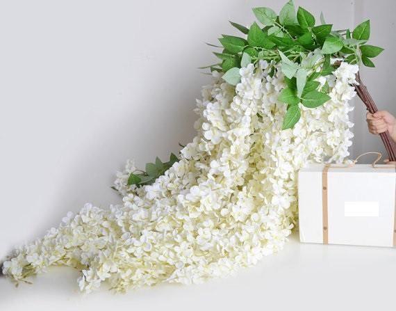 5pcs 70 Hanging Flowers Wedding Flower Backdrop Wedding Wedding Ceremony Decorations Outdoor