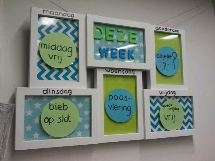 Weekplanner voor de kinderen
