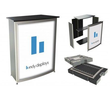 OCTAcounter Modular Lightbox Pedestal. Shop today at indydisplays.com #backlit #display #