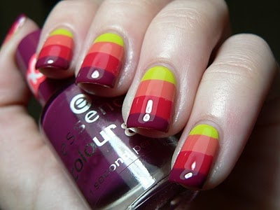 Amazing manicure from http://www.letthemhavepolish.com/2011/04/1000-followers-insert-happy-dance.html
